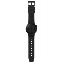 Swatch SO27B100 Armband-Uhr BBBlack Analog Quarz mit Silikon-Band