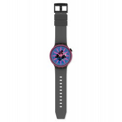 Swatch SO27B111 Armband-Uhr Blue Taste Analog Quarz Silikon-Armband