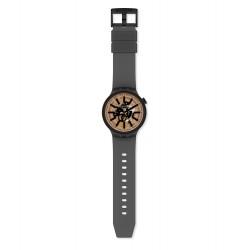 Swatch SO27B115 Armband-Uhr Dark Taste Analog Quarz Silikon-Armband