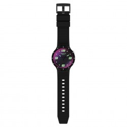 Swatch SO27B119 Armband-Uhr Futuristic Black Analog Quarz Silikon-Armband