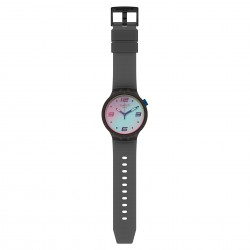 Swatch SO27B121 Armband-Uhr Futuristic Grey Analog Quarz Silikon-Armband
