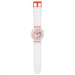 Swatch SO27E102 Armband-Uhr Big Bold Orangeinjelly Analog Quarz