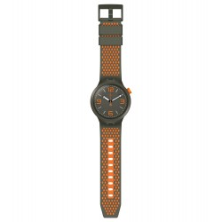 Swatch SO27M101 Armbanduhr BBBeauty Quarz Silikon Armband Ø 47,00 mm
