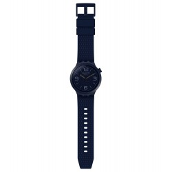 Swatch SO27N100 Armband-Uhr BBNavy Analog Quarz Silikon-Band Ø 47,00 mm