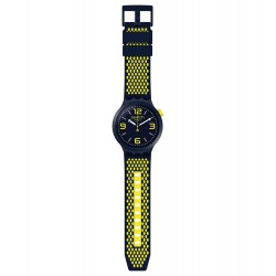 Swatch SO27N102 Armband-Uhr BBNeon Analog Quarz mit Silikon-Band Ø 47,00 mm