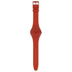 Swatch SO29R700 Armband-Uhr Redvremya Analog Quarz Kunststoff-Armband