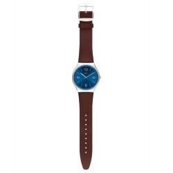 Swatch SS07S101 Armband-Uhr Skinrouge Analog Quarz mit Leder-Band