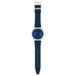 Swatch SS07S102 Armband-Uhr Skinnavy Analog Quarz mit Silikon-Band