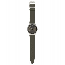 Swatch SS07S103 Armband-Uhr Skinearth Analog Quarz mit Silikon-Band