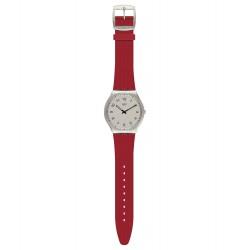Swatch SS07S105 Armband-Uhr Skinrouge Analog Quarz mit Silikon-Band