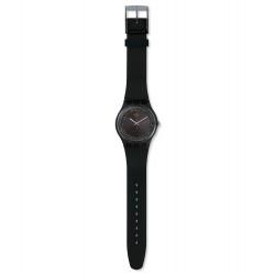 Swatch SUOB156 Armband-Uhr Darksparkles Think Fun Analog Quarz Silikon