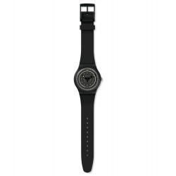 Swatch SUOB157 Armbanduhr Più Nero Analog Quarz mit Silikon Armband Ø 41,00 mm