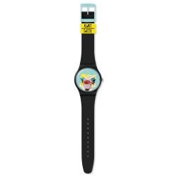 Swatch SUOB159 Armbanduhr Blue Sweet Quarz Silikon Armband Ø 41,00 mm