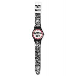 Swatch SUOB160 Armbanduhr Swatch Out Quarz Silikon Armband Ø 41,00 mm