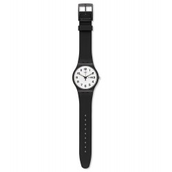Swatch SUOB705 Herren-Uhr Twice Again mit Silikon-Band Datum