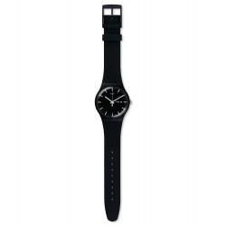 Swatch SUOB720 Armbanduhr Mono Black Silikon Datum Ø 41 mm