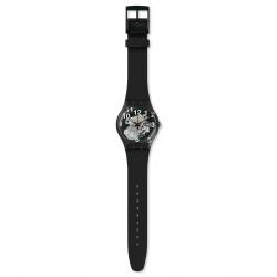 Swatch  SUOK135 Armbanduhr Black Board Quarz Silikon Armband Ø 41,00 mm