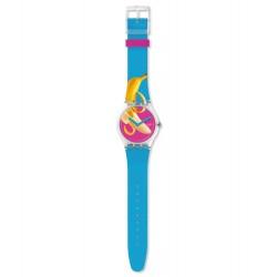 Swatch SUOK140 Armbanduhr Banana Slip Quarz Silikon Armband Ø 41,00 mm