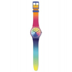 Swatch SUOK143 Armband-Uhr Multiboost Analog Quarz mit Silikon-Band