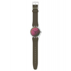 Swatch SUOK714 Armband-Uhr Polarmy Analog Quarz mit Silikon-Band