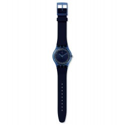 Swatch SUON134 Armband-Uhr Blusparkles Think Fun Analog Quarz mit Silikon-Band