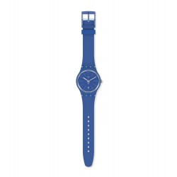 Swatch SUOS403 Armband-Uhr Blue Layered Analog Quarz mit Silikon-Band