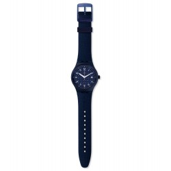 Swatch SUTN405 Armbanduhr Sistem Noite Automatik mit Silikon Armband Ø 42,00 mm