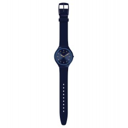Swatch SVON104 Armband-Uhr Skinazuli Analog Quarz mit Silikon-Band