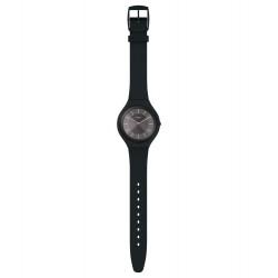 Swatch SVUB106 Armbanduhr Skincharbon Quarz Silikon Armband Ø 40,00 mm