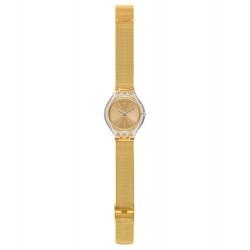 Swatch SVUK101M Armband-Uhr Skinmajdou Analog Quarz mit Edelstahl-Band