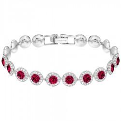 Swarovski 5446006 Armband Damen Angelic Mittel Rot Silber-Ton