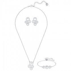 Swarovski 5431650 Set Kette Armband Ohrringe Creativity Weiss Silber-Ton