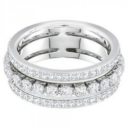 Swarovski Ring Damen Further Weiss Silber-Ton Rhodiniert