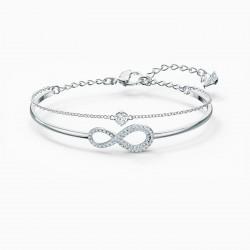 Swarovski 5520584 Armband Armreif Damen Infinity Weiss Silber-Ton