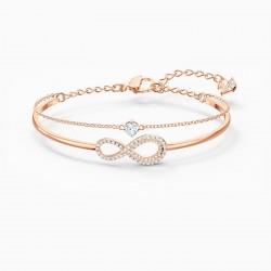 Swarovski 5518871 Armband Armreif Damen Infinity Weiss Rosé Vergoldet