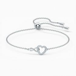 Swarovski 5524421 Armband Damen Infinity Heart Weiss Silber-Ton