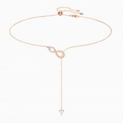 Swarovski 5521346 Y-Halskette Damen Infinity Weiss Rosé Vergoldet