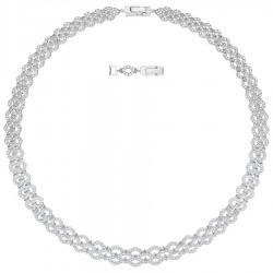 Swarovski 5374578 Collier Kette Lacy Wide Weiss Silber-Ton