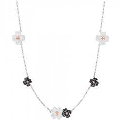 Swarovski 5389491 Kette Choker Halsband Damen Schwarz Weiss Silber-Rosé-Ton