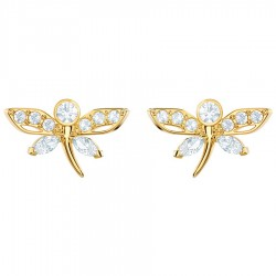 Swarovski 5429352 Ohrstecker Magnetic Dragonfly Libelle Weiss Gold-Ton
