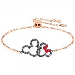 Swarovski 5435138 Armband Damen Mickey & Minnie Schwarz Rosé-Ton