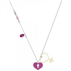 Swarovski 5409469 Kette Anhänger Mine Heart Mehrfarbig Pink-Gold-Silber-Ton
