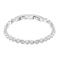 Swarovski 1791305 Tennis Armband Damen Weiss Silber-Ton Rhodiniert