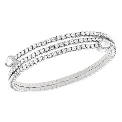 Swarovski 5073592 Armreif Twisty Drop Weiss Rhodiniert