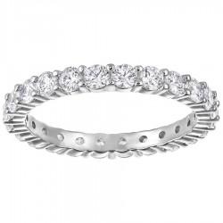 Swarovski Ring Vittore XL Weiss Silber-Ton Rhodiniert