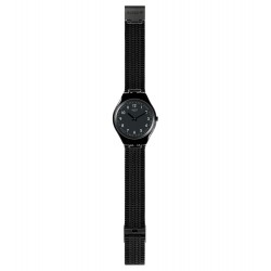 Swatch SYXB100GG Armbanduhr Skincoal Analog Quarz mit Edelstahl Armband Ø 38,00 mm