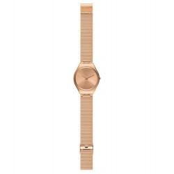 Swatch SYXG101GG Armband-Uhr Skinelegance Analog Quarz mit Edelstahl-Band