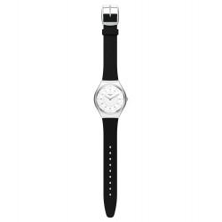 Swatch SYXS100 Armbanduhr Skinnoiriron Silikon Edelstahl Ø 38 mm