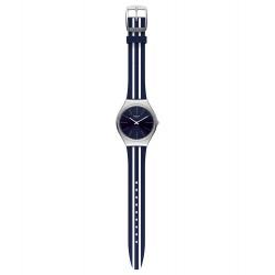 Swatch SYXS106 Armband-Uhr Skinblueiron Skin Irony Analog Quarz Silikon