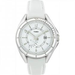 Timex T2M432 Damen-Uhr Retrograde Leder Weiss Ø 37 mm